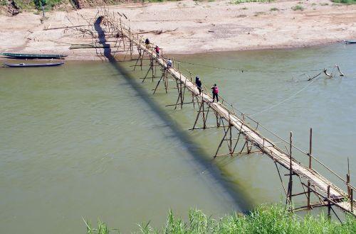 laos luang prabang bridge