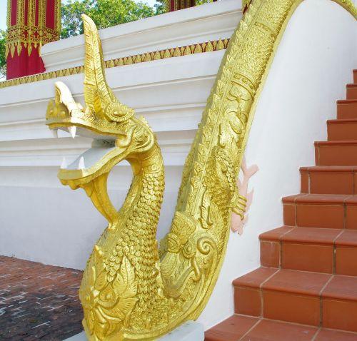 laos luang prabang staircase