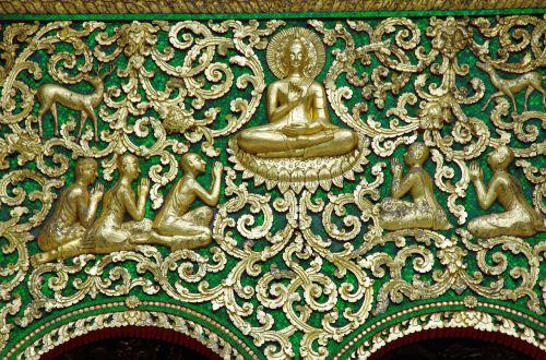 laos temple pediment