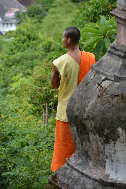 laos luang prabang monk