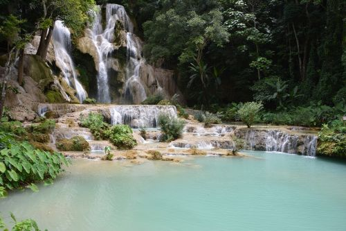 laos kuang sy cascade