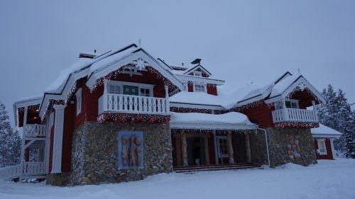 lapland house snow