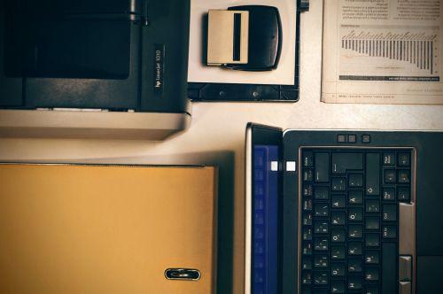 laptop printer office