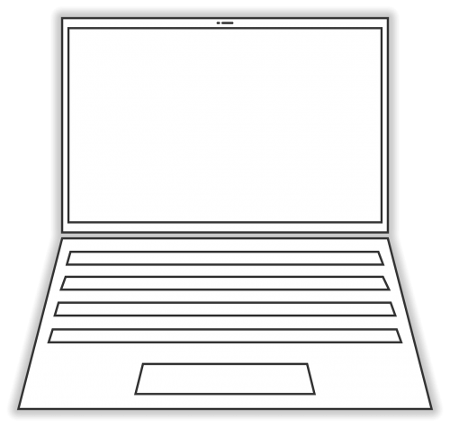 laptop computer line-drawing