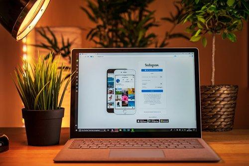 laptop  computer  instagram