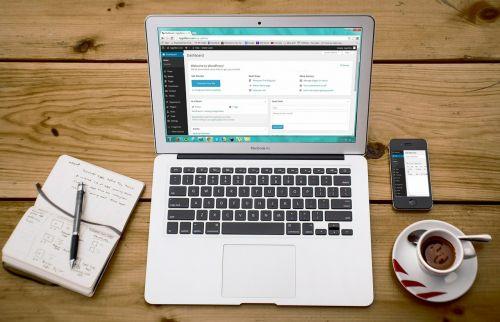laptop wordpress wordpress design