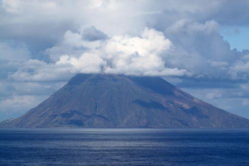 large stromboli volcano