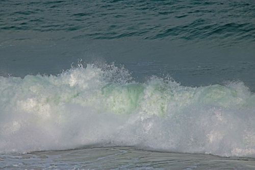 Large Crashing Wave In The Ocean