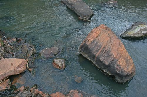 Large Round Rock In Stream