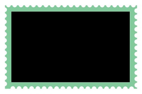 large stamp stamp border long stamp border