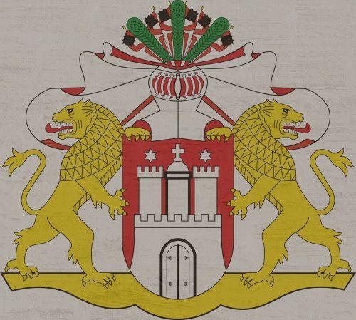 large state coat-of-arms hamburg hanseatic city
