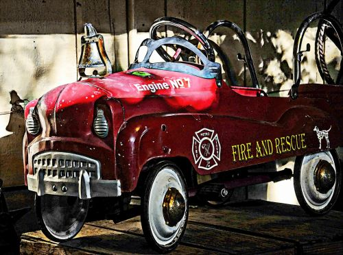 Large Toy Fire Engine Truck