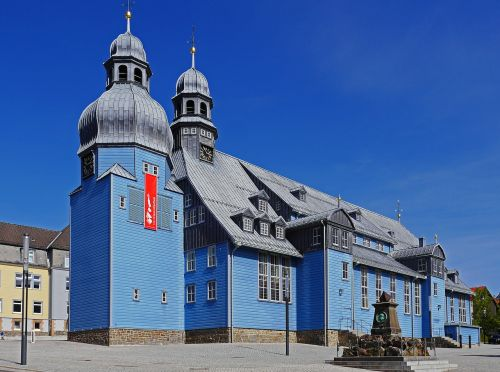 largest wooden church in germany clausthal-zellerfeld market church