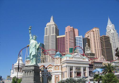 las vegas las vegas new york skyline las