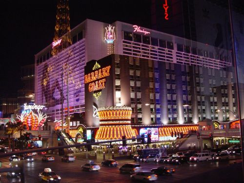 las vegas night street
