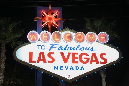 Las Vegasas, Sveiki, ženklas, Nevada, neoninės šviesos, neoninis ženklas
