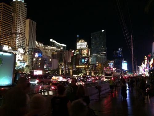 las vegas strip casino night