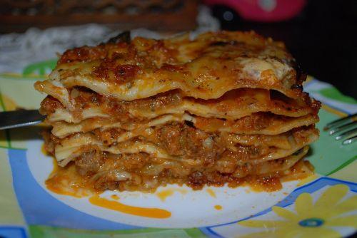 lasagna eating dish