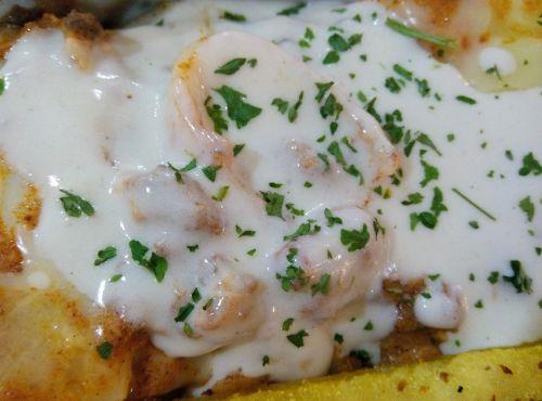 lasagna creamy cheesy