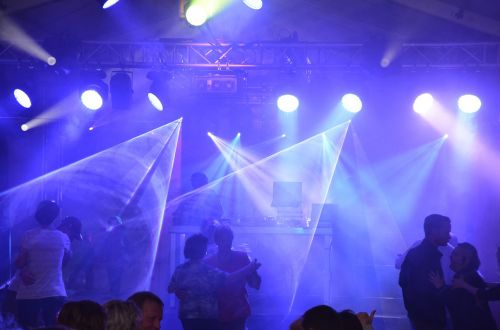 laser disco light show