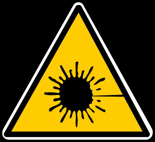 laser radiation warning