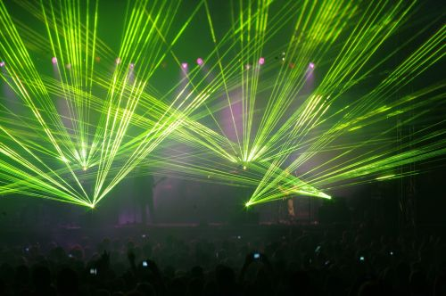 laser light concert music