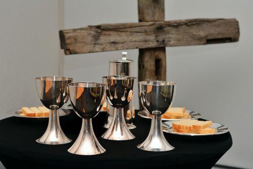 last supper the bread and wine eucharist chalice