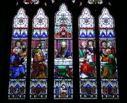 last supper stained glass window st michael's church