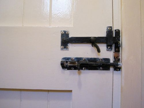 Latch And Bolt On Door