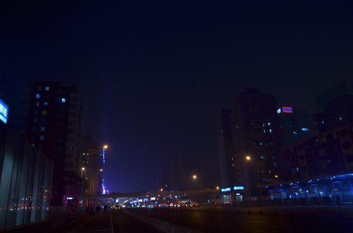 late at night beijing crossroads