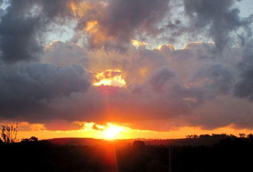 Late Autumn Sundown