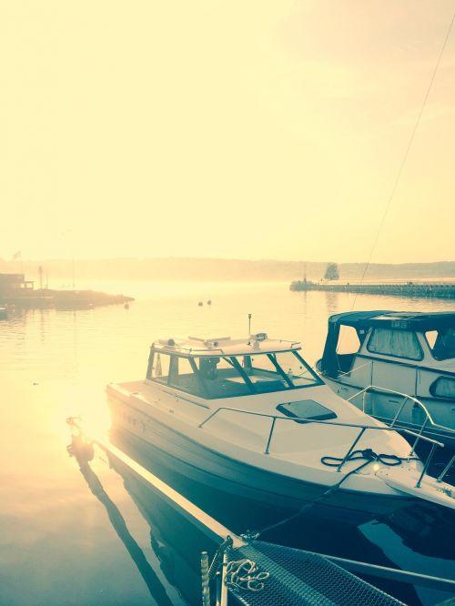 late summer sweden boat