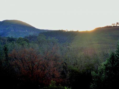 Late Sun Over Mountain