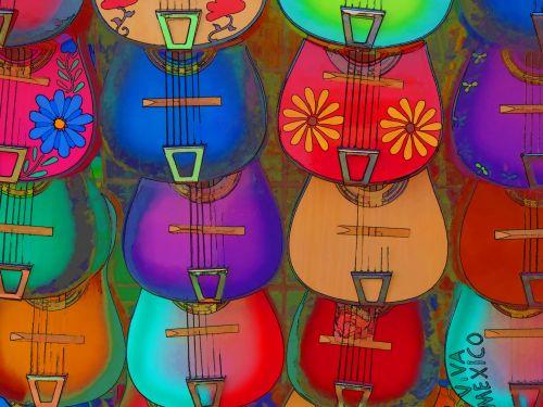 Latin Guitars Background