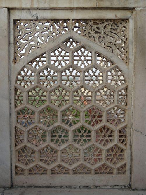 latticework marble white