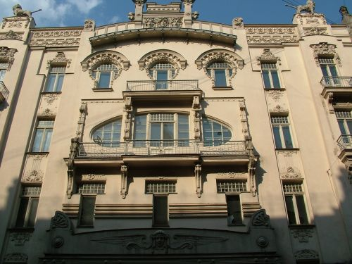 latvia riga art nouveau