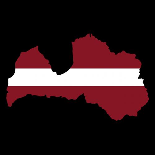 latvia map land