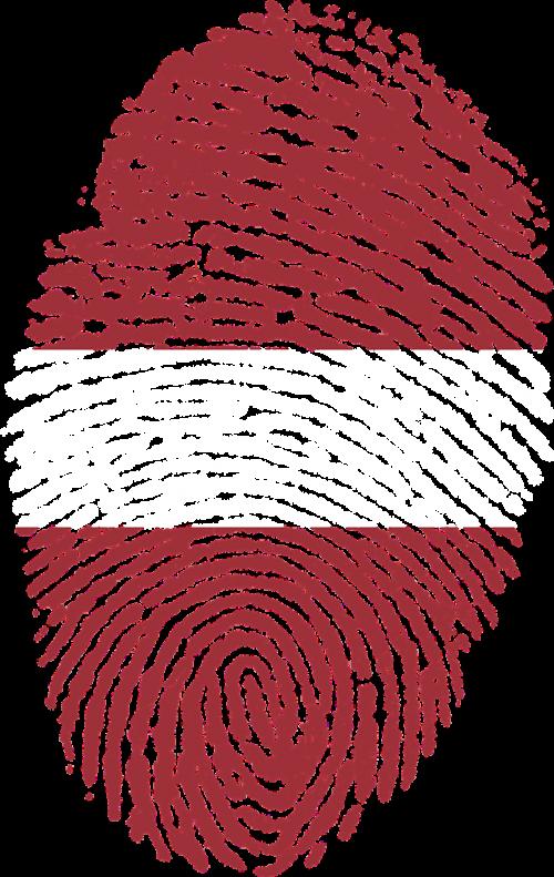 latvia flag fingerprint