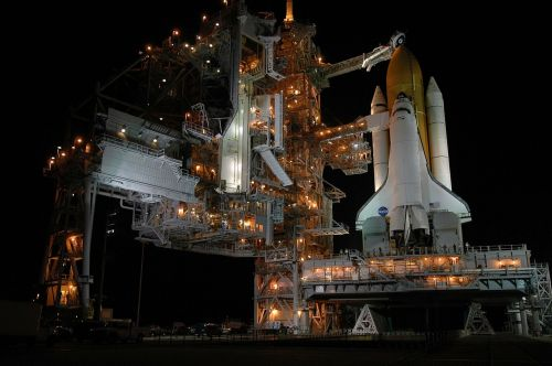 launch pad rocket launch night
