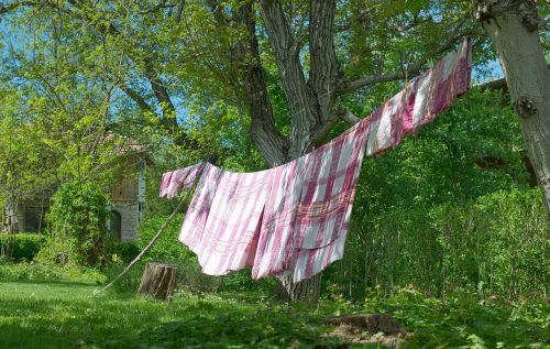 laundry spring clothes