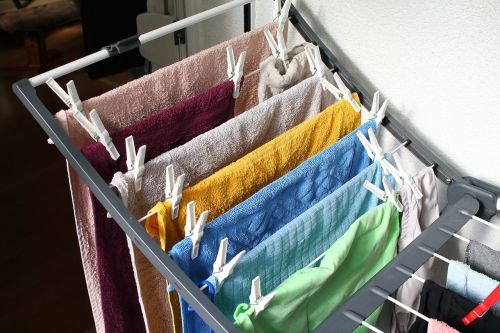 laundry dry clothes drying rack