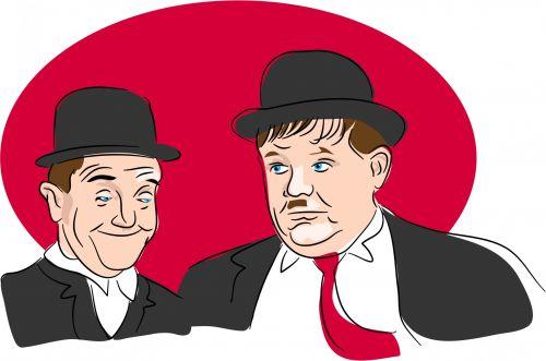Laurel & Hardy Clipart