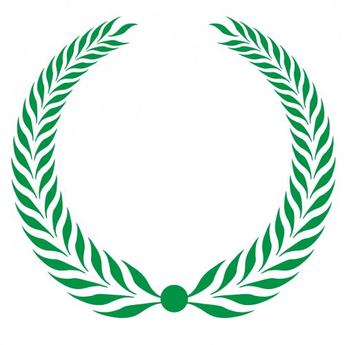 Laurel Wreath Clipart Green