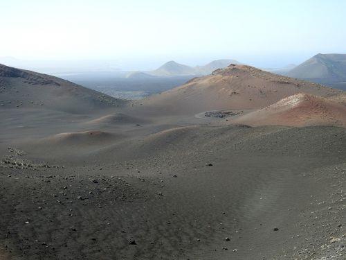 lava field volcanic landscape timanfaya