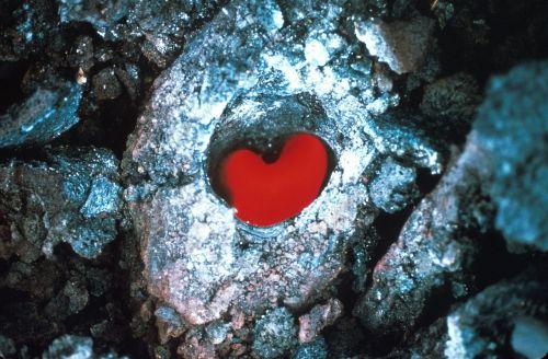 lava flow heart shape red