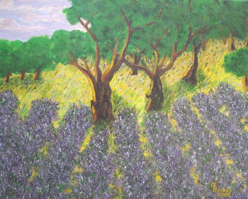 lavender painting image
