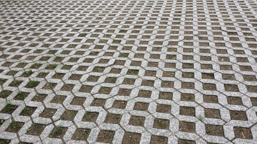 lawn grid turf paving park area
