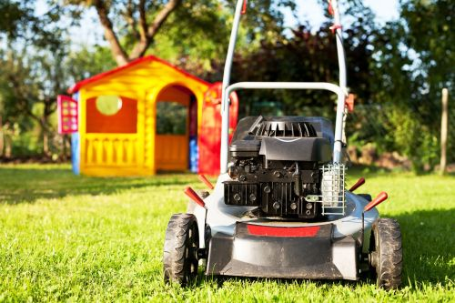 lawn mower rush lawn mowing