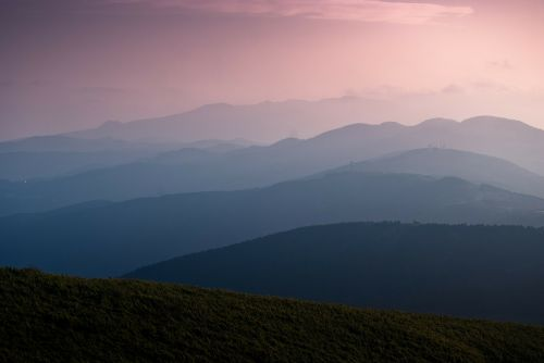 layer layered mountain