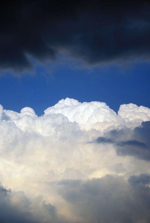 debesis, balta, tamsi, dangus, sluoksniai, debesies sluoksniai ir dangus 2